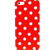 White Dots Pattern Hard Case for iPhone 4/4S