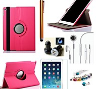 Cowboys Rotating PU Leather with Protective Film、Stylus、Headset、Dust Plug 、Car Charger for iPad Air 2 (Assorted Colors)