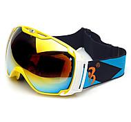 HB Yellow Frame Double Lens Anti-fog Snow Googgles