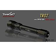TANK007 TR02 5-Mode 1xCree XR-E Q5 LED Diving  Flashlight(235LM, 4xCR123/2x18650 , Black)