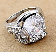 Fashion Rhinestone CZ Band Rings Random Color