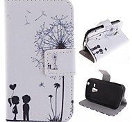 For Samsung Galaxy Case Wallet / Card Holder / with Stand / Flip / Pattern Case Full Body Case Dandelion PU Leather Samsung Trend Duos