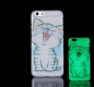 Cat Pattern Glow in the Dark Hard Case for iPhone 6 Plus