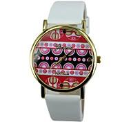 Women's Watermelon Pattern PU Band Quartz Casual Watch(Assorted Colors)