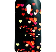Red Love Pattern TPU Soft  Cover for Motorola Moto G2