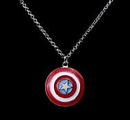Super Hero Captain America America Shield Pendant Necklace(1 Pc)