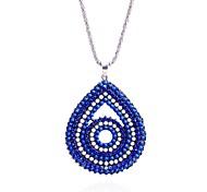 Lureme®Fashion Women's Drill Water Drop Alloy Pendant Necklace