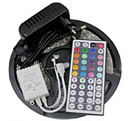 5M 300X3528 SMD RGB LED Strip Light and 44Key Remote Controller and 3A US Power Supply (AC110-240V)