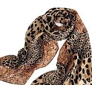 chales de leopardo de las mujeres previene toma el sol en bufandas