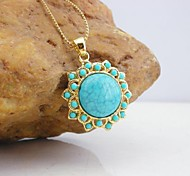 18K Golden Plated Turquoise Pendant