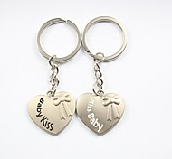 Personalized Engraving Kiss Baby Metal Couple Keychain