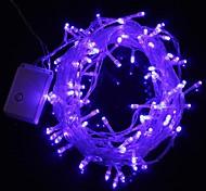 10m 9.6W Nikolaus-100-LED-Blaulicht-Streifenlicht-Lampe (EU-Stecker, 220V AC)
