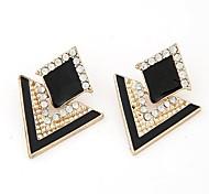 Earring Jewelry Women Party Alloy / Rhinestone Gold / White