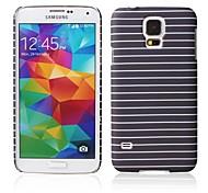 streeppatroon rubberized design case harde case voor Samsung Galaxy S5