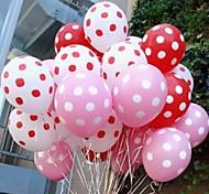 feriado festa de casamento ponto onda pontos doces coloridos balões mais espessas (50pcs)