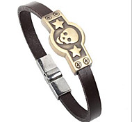 Punk Style Skull Star Alloy Leather Bracelet(1 Pc)