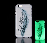 Feather Pattern Glow in the Dark Hard Case for iPhone 6
