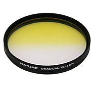 amarillo naturaleza 77mm graduó filtro de color