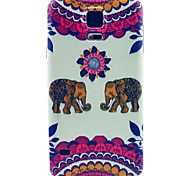 Kiss The Baby Elephant Pattern TPU Soft Case for S5 I9600