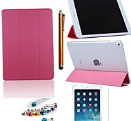 Toothpicks Pattern PU Leather with Protective Film、Stylus and Dust Plug  for iPad Air 2/iPad 6 (Assorted Colors)