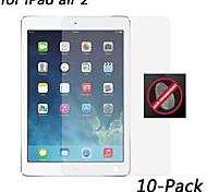 [10-pack] hd anti-huella digital protector de pantalla resistente para ipad aire 2