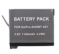 1160mah bateria da câmera para GoPro 4 câmera ahdbt 401