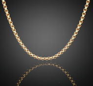 Never Fade Jack Men's 24K Real Gold Plated Figaro Round Link Chains Necklace High Quality for Men 6MM 75CM