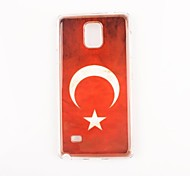Para Samsung Galaxy Note Diseños Funda Cubierta Trasera Funda Bandera Policarbonato Samsung Note 4