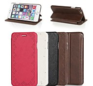 Contracted Lace Design PU Full Body Case with Stand for iPhone 6(Assorted Colors)
