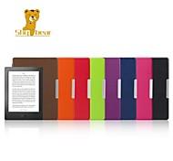 timide couverture en cuir étui rigide ours ™ 6,8 pouces pour kobo aura h2o ebook couleur assortie