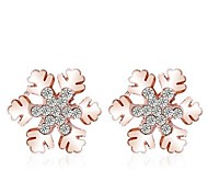 Fashion Zircon Snowflake Pattern Earring(Assorted Color)