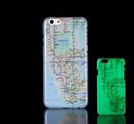 Nova Iorque mapa padrão brilham no escuro caso difícil para o iphone 6