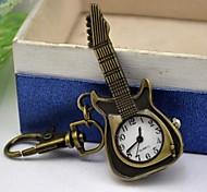 banda de liga de marcação guitarra colar relógio de bronze quartzo das mulheres