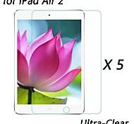 [5-pack] profissional lcd cristal de alta transparência protetor de tela ultra-fino para ipad ar 2