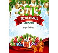 cartões de Natal personalizados 50pcs clássico padrão vertical plana 2 lados impressão colorida de papel fine art