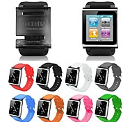 iWatchz Q Series Silica Gel Clip Bracelet Watch Band Wrist Strap for iPod Nano 6 6th Gen (Assorted Colors)