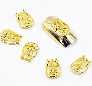 100PCS 3D Gold Nail Jewelry Vintage Lovely Crown for False Acrylic Molds Nail Art Decorations