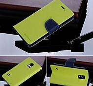 Pour Samsung Galaxy Coque Avec Support Clapet Coque Coque Intégrale Coque Couleur Pleine Cuir PU pour Samsung S5