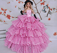 Barbie Doll Swan Regina Vino Rosso Lace Princess Dress
