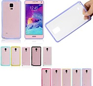 Ultra Thin Scrub Translucent  Back Cove For Samsung Galaxy Note 4 N9100(Assorted Colors)