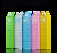 Milk Box Shape Power Bank with Usb Cable for iPhone 6/6 Plus/Samsung and Others (2600mAh)
