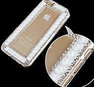 White Glass Diamonds Pattern Hard Back Case for iPhone 6
