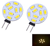 Luces de Doble Pin G4 W 9 SMD 5730 350 LM 3000~3500 K Blanco Cálido DC 12 V