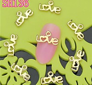 10PCS SH136 Love Design Luxury 3D Alloy nail art DIY Nail beauty Nail Decoration Nail Salon
