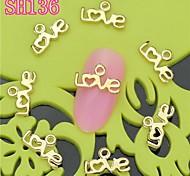 10PCS SH136 Love Design Luxury 3D Alloy nail art DIY Nail beauty Nail Decoration Nail Salon