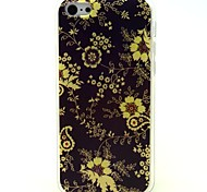 Yellow Flowers Pattern Soft Case for iPhone 5C