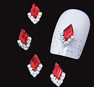 10pcs   Red Marquise 3D Rhinestone DIY Alloy Accessories Nail Art Decoration