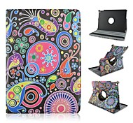 HHMM 360 Degree Rotation Ethnic Wind Pattern PU with Stand Auto Sleep/Wake Up Cases with Stand for iPad Air 2/iPad 6