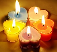 Party's Romantic Heart Shaped Candles