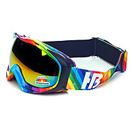 HB Rainbow Stripes Frame Protection Polarized Snow Goggles